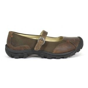 Keen sisters mary jane shoes cascade brown size 7